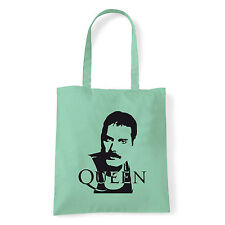 Art T-shirt, Borsa shoulder Queen Freddy Mercury, Menta, Shopper, Mare