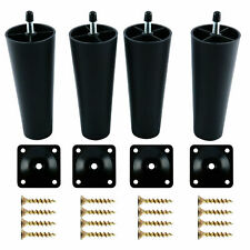 4Pcs Plastic Sofa Couch Chair Legs Tapered w/ Screws Replacement Furniture Feet