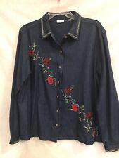 Women's Button Up Denim Shirt
