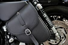 LEATHER SADDLE BAG FOR HARLEY DAVIDSON SPORTSTER, MADE IN ITALY