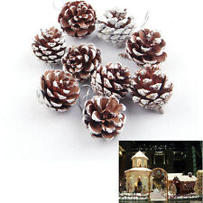 9x Pinecones Baubles Hanging Christmas Xmas Tree Holiday Decoration Pine Cone EF