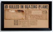 1938 CLEVELAND OHIO Salvaged FATAL Air Mail AMBULANCE & CRASH COVER / 10 DEAD!