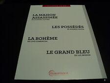 """COF 4 DVD NEUF """"LA MAISON ASSASSINEE / LES POSSEDES / LA BOHEME / LE GRAND BLEU"""""""
