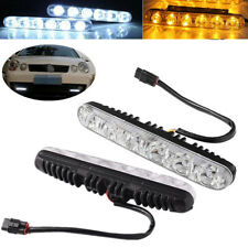 2Pcs Universal Auto Car 6LED DRL Daytime Running Light w/ Amber Turn Signal Lamp