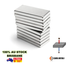 10x Strong N48 20X10X3mm Block Magnets Neodymium Rare Earth Crafts Arts Curtain