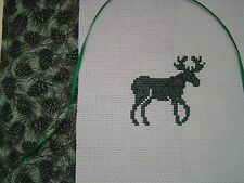 """Finished Completed Design Green """"Moose"""" Camp Cabin Lodge Theme"""