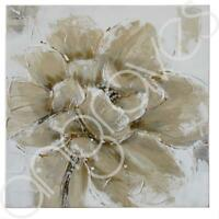 Champagne Poppies Canvas Hand Finished Hanging Wall Art Piece Floral Flower