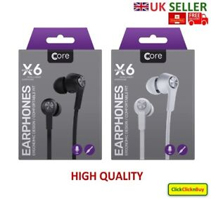 Core X6 Super Bass Stereo Headphone, Earphone, Earbuds, Handsfree For any Device