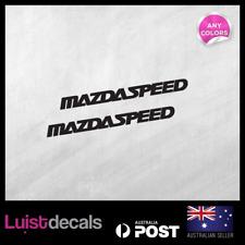 2x MAZDASPEED Mazda RACING RX8 Decal  Emblem Logo JDM Sticker 100x9mm