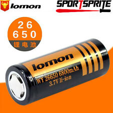 1pc 26650 6800mAh 4.2V Rechargeable Li-ion Battery For Flashlight Camera Laser