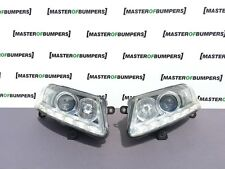 AUDI A6 4F 2009-2011 LED XENON HEADLIGHTS PAIR GENUINE COMPLETE
