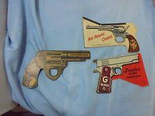 3 Vintage Cardboard Snap Guns Roy Rogers Lone Ranger Rare 1938 Morton Salt
