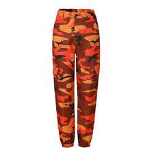 Damen Cargo Camouflage Jogging Haremshose Cargohose Camo Military Hip Hop Hosen
