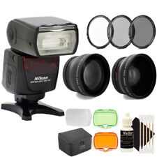 Nikon SB-700 AF Speedlight Flash for D3100 D3200 Cameras + 52mm Accessory Bundle
