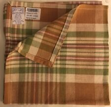 April Cornell Single Plaid Napkin Never Used 16 x16 cotton 100%
