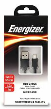 Energizer Black USB to MicroUSB Sync Charge Cable For Phones Tablet Devices