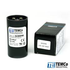 TEMCo 400-480 uf/MFD 165 VAC volts Round Start Capacitor 50/60 Hz -Lot-1