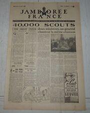 JOURNAL JAMBOREE FRANCE N°5 1947 MOISSON SCOUT SCOUTISME SCOUTS PIERRE JOUBERT