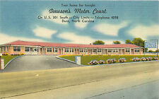 DUNN NC DAWSON'S MOTOR COURT ROADSIDE LINEN P/C