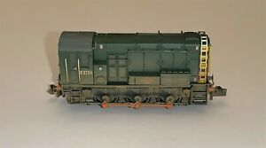 Graham Farish (371-022) Class 08 Shunter 'D3729' in BR Green (Factory Weathered)