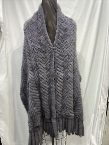 Knitted Mink Gray Shawl  90048