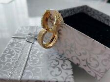 Ohrringe - runde Creolen / echt Gold / 2,20 Gramm - 585 14 Karat Gelbgold