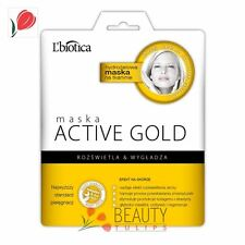 L'Biotica Active Gold Hydrogel Face Mask on Fabric Illumination & Smoothens 25g