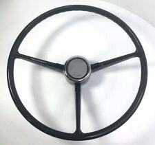 Black 3 Spoke Steering Wheel For 1967-68 Chevrolet Pickup Truck w/ Horn Button