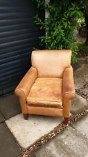 ☆ Gorgeous Vintage REAL Leather snuggle deep CHAIR - Free Delivery ☆