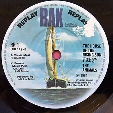 The Animals - The House Of The Rising Sun - RAK RR1 Ex Condition 3 Track Single