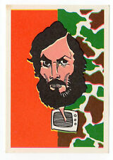 1970s Portugese sticker stamp 1975 caricature TV Coup Protagonist Duran Clemente