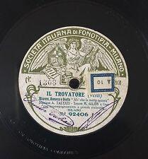 """RARE 78RPM 11"""" FONOTIPIA TROVATORE SOPRANO AMELIA TALEXIS TENORE MARIO GILION"""