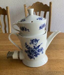 Echt Kobolt Aromator Kaffeemaschine Blaues Blumenmuster