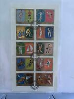 Sharjah Munich Olympics 1972 cancelled stamps sheet R27574