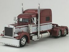 "1/64 DCP BURNT ORANGE/WHITE PETERBILT 379 W/ 70"" SLEEPER"