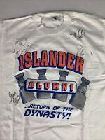 New York Islanders Vintage Autographed Shirt - Nystrom, J Potvin, More