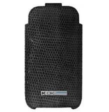 4-OK Skeen Tasche Etui Hülle Snake Schwarz für Sony Ericsson K850i