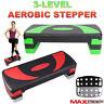 Adjustable Exercise Aerobic Step Fitness Yoga Gym Workout 3 Level Stepper Board