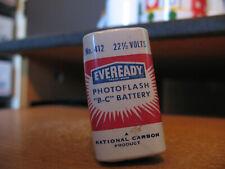 "Vintage Eveready #412 Photoflash ""B-C"" 22-1/2 Volt Battery LONG Dead"