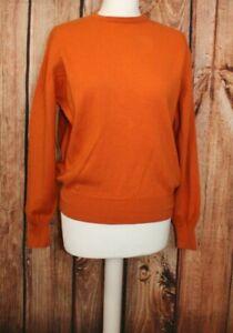 Glenmac Scotland Ladies Jumper Sweater Orange 100% Wool S / M