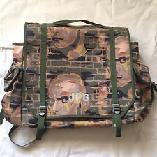 Rare Vintage Jean Paul Gaultier Camouflage Face 2-Way Backpack Bag