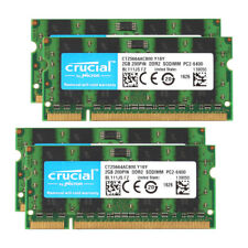 Crucial 8GB 4X 2GB DDR2 800MHz PC2-6400S 2RX8 Laptop Memory RAM Sodimm Intel @BM