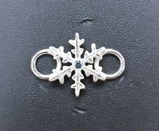 LeStage Convertible Clasp - Christmas Snowflake w/ Blue Zircon (SB5721)