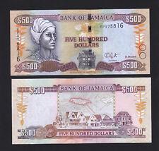 Jamaica 500 Dollars $500 (2017) New Date UNC