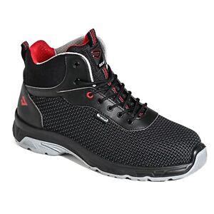 Chaussures de sécurité Légèr homme S3 de travail Respirant Embout d'acier noir