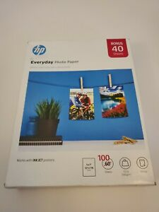 HP Everyday Glossy Photo Paper 100 Sheets 5 x 7 in 7LQO7A Works With Inkjets