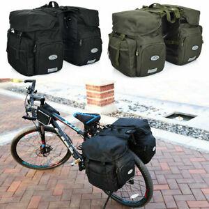 50L Large MTB Bike Rear Rack Bag Bicycle Double Panniers Luggage Carrier Pack AU