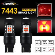 2X Super Red 7443 7440 T20 Led Brake/Stop/Tail Light High Power 14-Smd 3030 Bulb