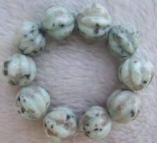 18mm Natural Color Jade Carving Round DIY Making Semi Precious Loose Beads