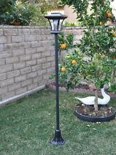 "New 67"" Solar Powered Lamp Post Light with Bright LED Bulb Garden Adjustable Sun"
